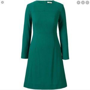 Orla Kierly Wool Crepe Scallop Detail Dress